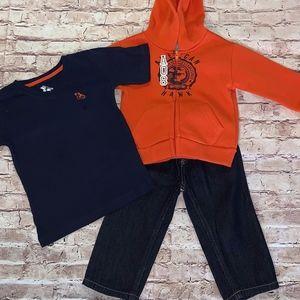 NEW Boys 3 piece Set: Jeans, Shirt & Hoodie